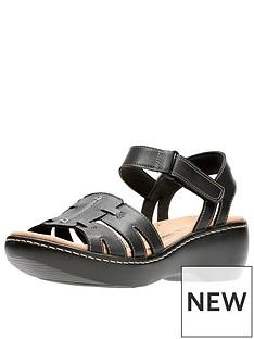 clarks-delana-nila-low-wedge-sandal-black