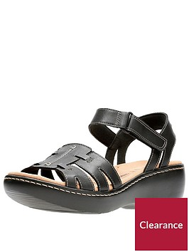clarks-delana-nila-low-wedge-sandal-black