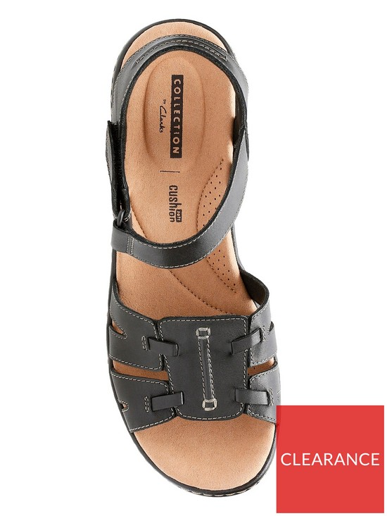e37d1d530962 ... Clarks Delana Nila Low Wedge Sandal - Black. View larger