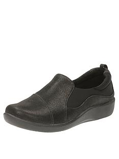 82064ed4ddd Clarks Sillian Paz Wide Fit Slip On Shoe - Black