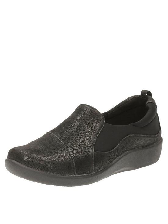 fe6e6014ceeb3 Clarks Sillian Paz Wide Fit Slip On Shoe - Black | very.co.uk