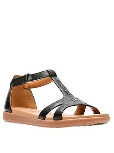 clarks-un-reisel-mara-gladiator-flat-sandal-black-leathernbsp