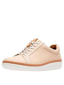 Clarks Amberlee Rosa Casual Trainer Shoe - Nude