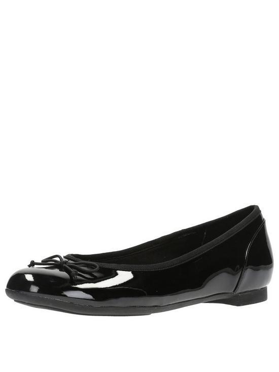 ea89bbfc4c4f Clarks Couture Bloom Ballerina - Black Patent