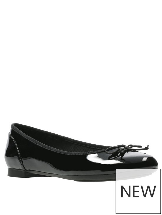 b32a5b67230df Clarks Couture Bloom Ballerina - Black Patent   very.co.uk