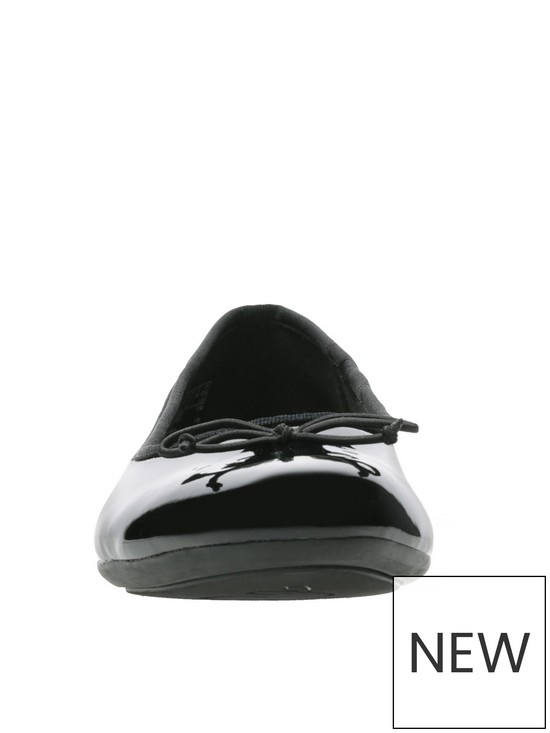 9c216a25f7a64 ... Clarks Couture Bloom Ballerina - Black Patent. View larger
