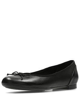 Clarks Couture Bloom Ballerina Shoe - Black