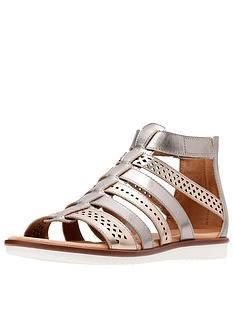 clarks-kele-lotus-caged-flat-sandal-metallic