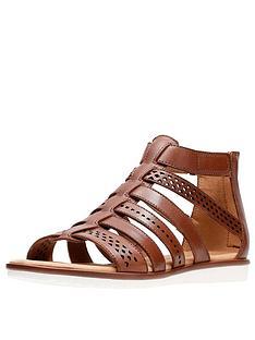 clarks-kele-lotus-caged-flat-sandals-tan