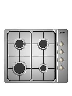 swan-sxb7030ss-60cm-built-in-gas-hob-with-fsdnbsp--next-day-delivery--nbspstainless-steel