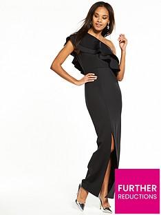 v-by-very-frill-one-shoulder-maxi-dress-blacknbsp