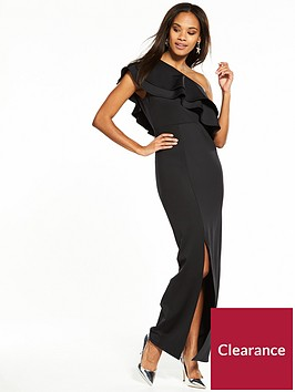 v-by-very-frill-one-shoulder-maxi-dress-blacknbsp
