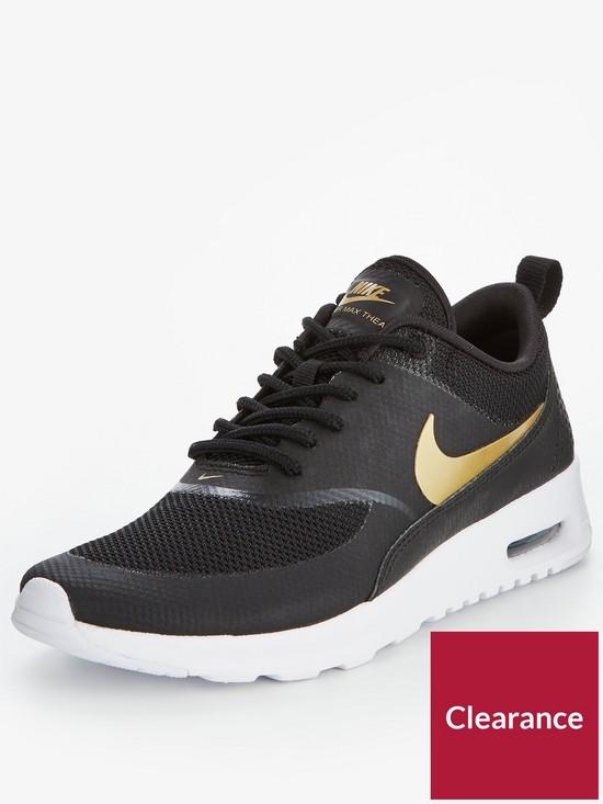 e5d3d35997 ... green mens running shoes for 02afc 1b144; discount nike air max thea  metallic black gold very ed73f 27781