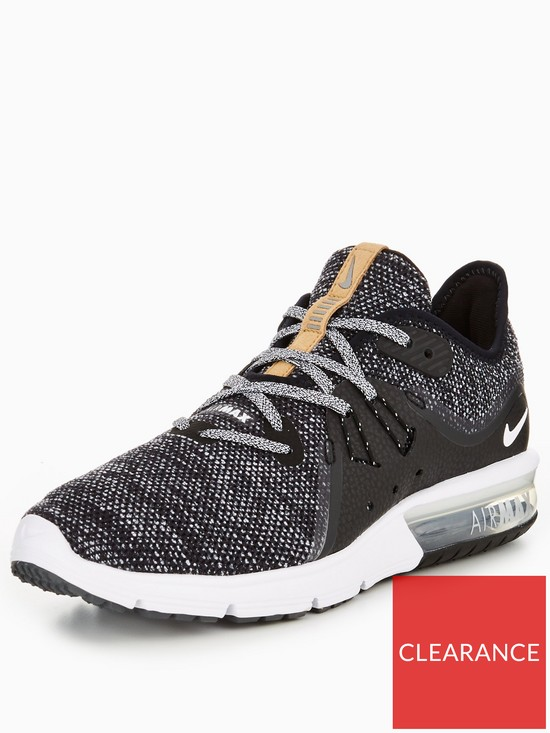 brand new 3e3ec 58a1d Nike Air Max Sequent 3 - Black White   very.co.uk