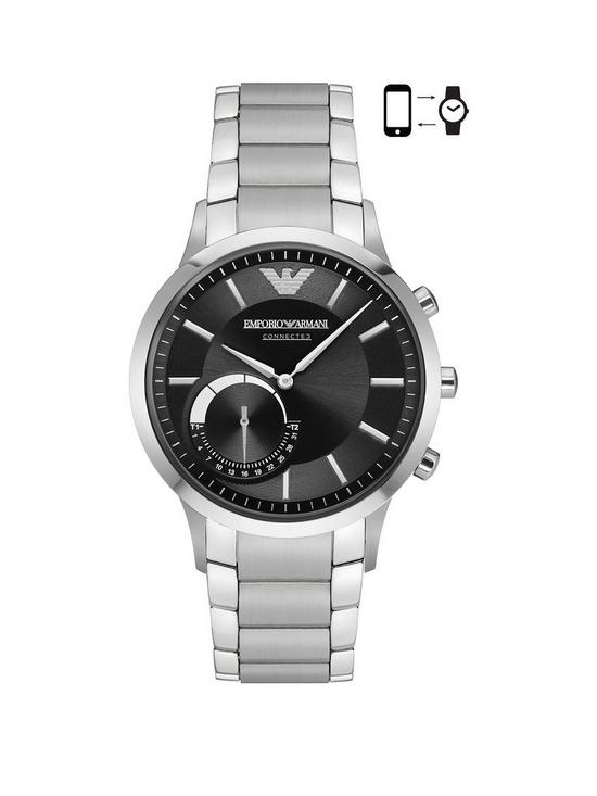 2e19f98ed4e7f Emporio Armani Connected Silver Stainless Steel Hybrid Smartwatch ...