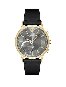emporio-armani-connected-gold-ip-black-leather-strap-hybrid-smartwatch