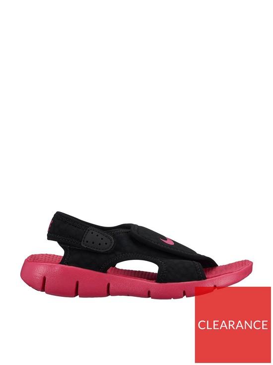 a4de0b456a35 Nike Sunray Adjust 4 Childrens Sandal - Black Pink
