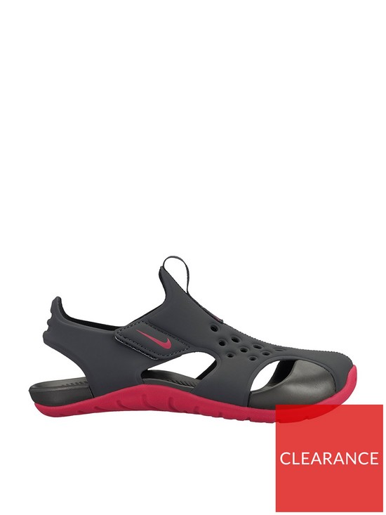 73eef3c33794 Nike Sunray Protect 2 Childrens Sandals - Black Pink