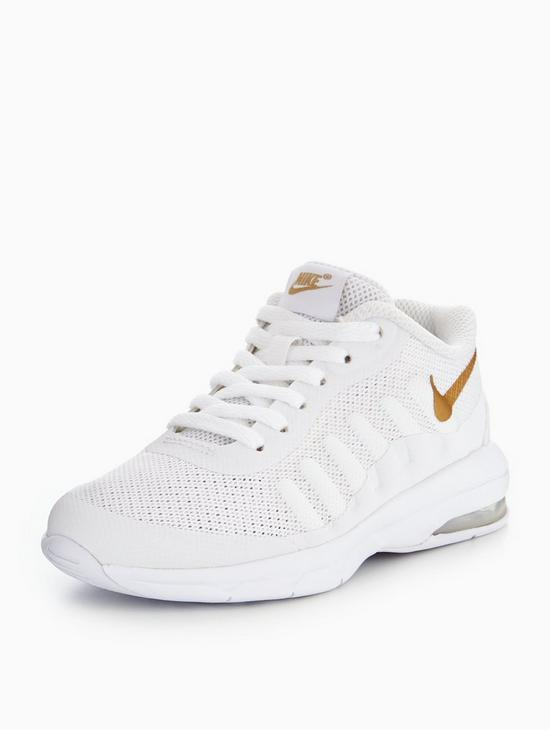super popular 8add2 c911c Nike Air Max Invigor Childrens Trainer - White Gold   very.co.uk