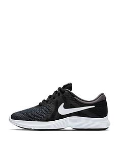 Nike Revolution 4 Junior Trainer - Black Grey White 4a3370219622
