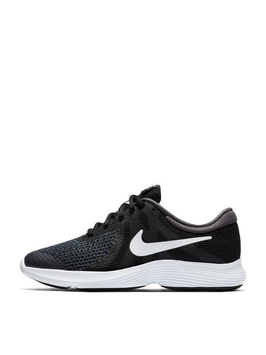 b38ab1329946 Nike Revolution 4 Junior Trainer - Black Grey White