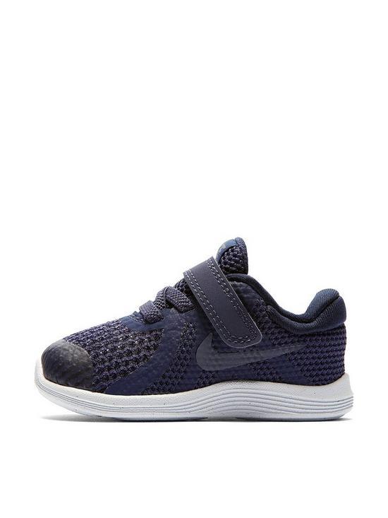 huge selection of f8c33 0945b Nike Revolution 4 Infant Trainer - Grey Navy