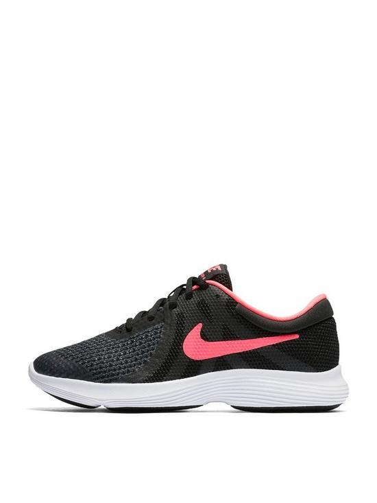92c8ce4c5bb Nike Revolution 4 Junior Trainer - Black Pink