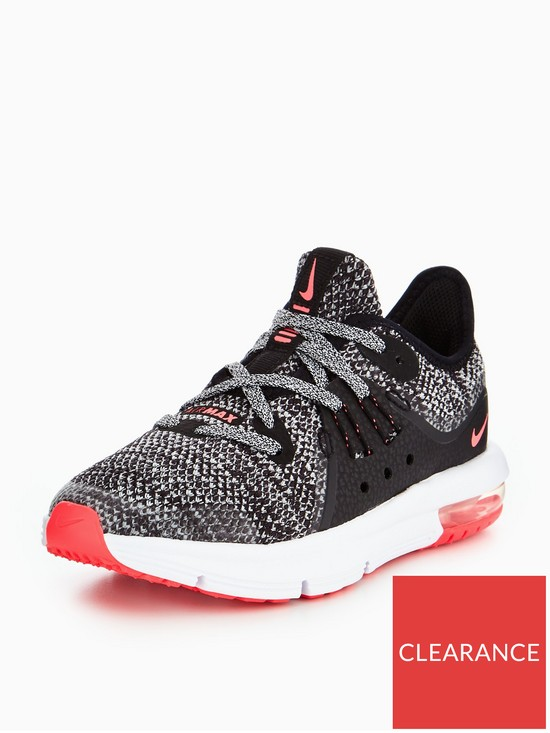 4bc7cd252ea39 Nike Air Max Sequent 3 Childrens Trainer - Black Pinkn