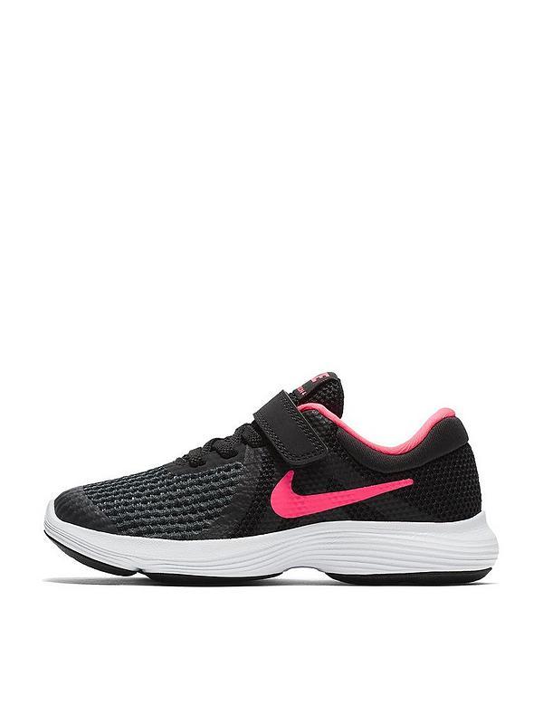 capítulo O hogar  Nike Revolution 4 Childrens Trainer - Black/Pink | very.co.uk