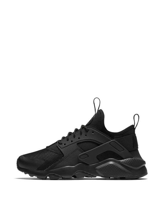 f0079eff2efa Nike Air Huarache Run Ultra Junior Trainers - Black
