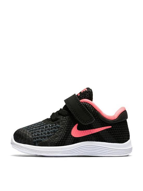 da98e10bfc9 Nike Revolution 4 Infant Trainers - Black Pink