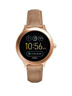 fossil-fossil-q-venture-rose-gold-ip-leather-strap-ladies-display-watch