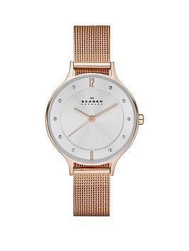 skagen-skagen-anita-stainless-steel-gold-ip-mesh-bracelet-ladies-watch