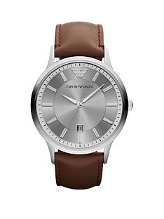 emporio-armani-emporio-armani-stainless-steel-brown-leather-strap-ladies-watch