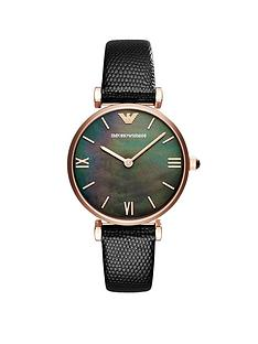 emporio-armani-rose-gold-stainless-steel-black-strap-ladies-watch