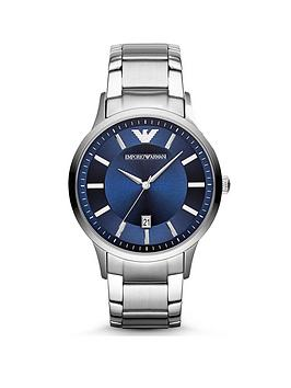 emporio-armani-ar2477-stainless-steel-blue-dial-bracelet-gents-watch