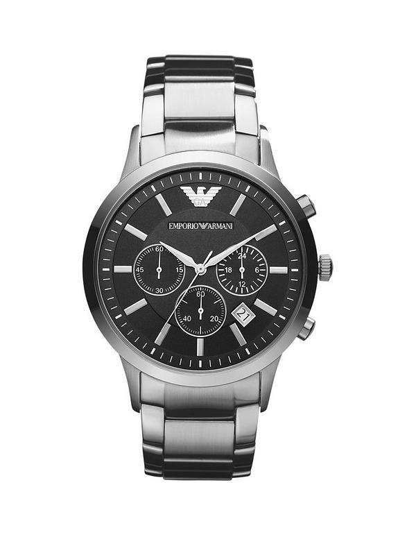 078580ebe189 Emporio Armani AR2448 Stainless Steel Bracelet Black Dial Gents Watch