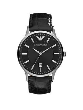 emporio-armani-ar2411nbspblack-leather-strap-gents-watch