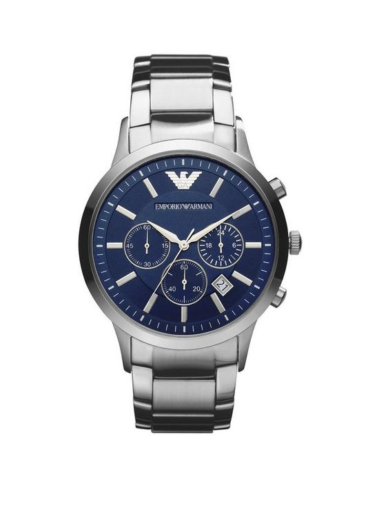 6ec66ae4 Blue Chronograph Dial Stainless Steel Bracelet Men's Watch