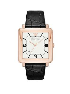 emporio-armani-ar11075-rose-gold-stainless-steel-square-leather-strap-gents-watch