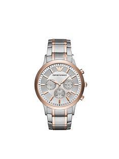 emporio-armani-ar11077nbsptwo-tone-stainless-steel-bracelet-gents-watch