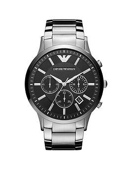 emporio-armani-stainless-steel-bracelet-black-dial-gents-watch