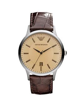 emporio-armani-stainless-steel-case-brown-leather-strap-gents-watch