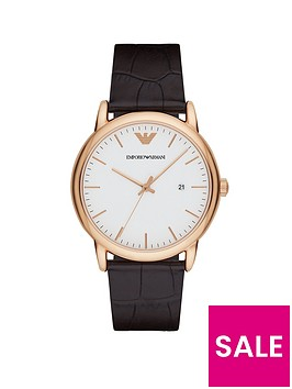 emporio-armani-rose-gold-stainless-steel-brown-leather-strap-gents-watch