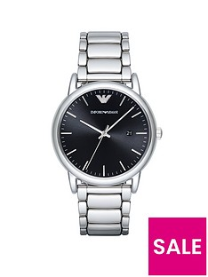 emporio-armani-stainless-steel-black-dial-bracelet-gents-watch