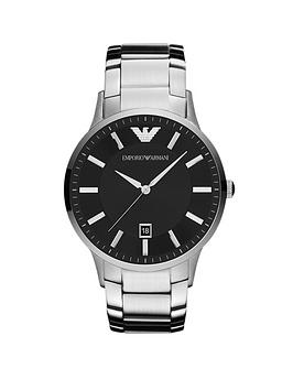 emporio-armani-black-dial-stainless-steel-bracelet-gents-watch