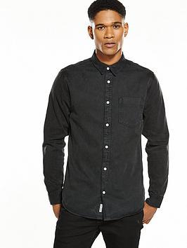 river-island-long-sleeved-distressed-denim-shirt