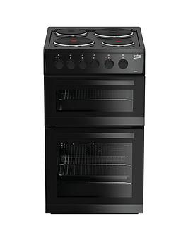 beko-kd533ak-50cm-twin-cavity-electric-cooker-black-with-connection