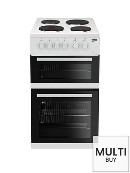 beko-kd533aw-50cm-twin-cavity-electric-cooker-white