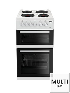 beko-kd533aw-50cm-twin-cavity-electric-cooker-white-with-connection